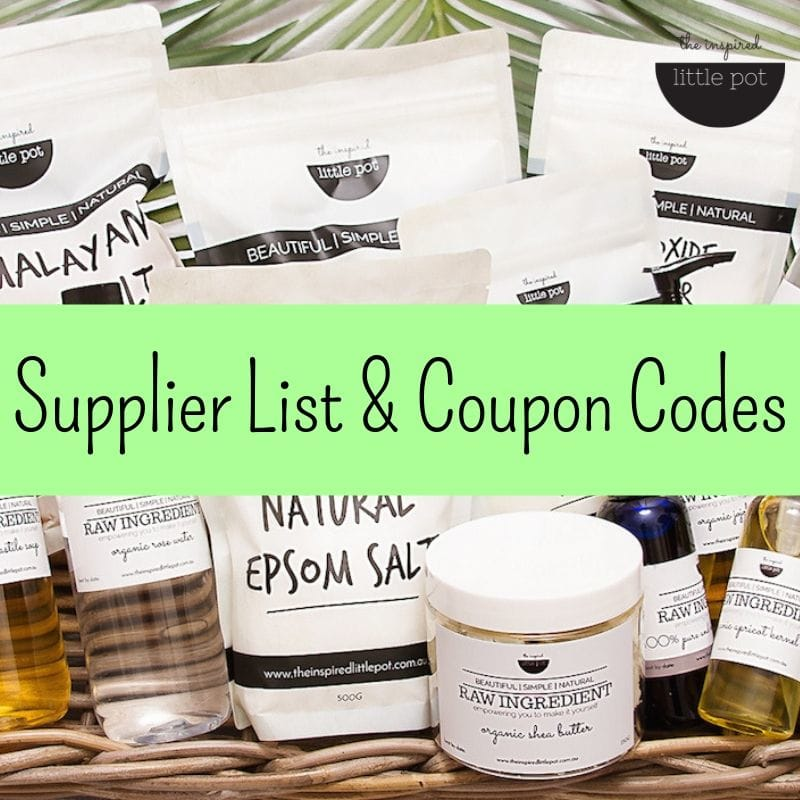 My Favourite Suppliers Of Natural Ingredients, Packaging